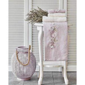 купить Набор полотенец Karaca Home-Lucy lila-offwhite 4шт