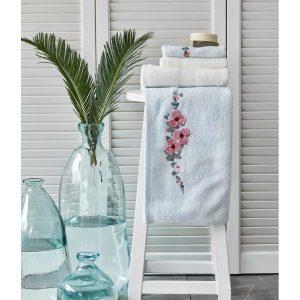 купить Набор полотенец Karaca Home-Orion su yesil-offwhite 4шт