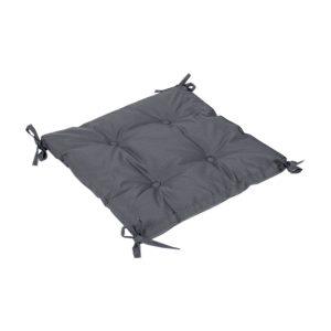 купить Подушка на стул с завязками Iris Home Optima Черно-серый