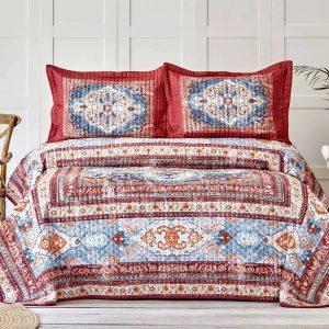 купить Покрывало с наволочками Karaca Home-Rubi kiremit