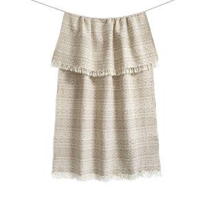 купить Пляжное полотенце Barine Pestemal-Nordic beige 90x160