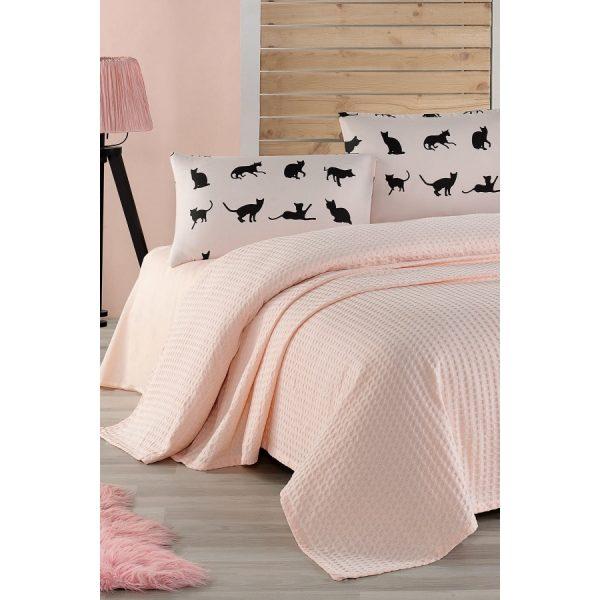 купить Постельное белье Eponj Home Paint Pike-Cats pudra Розовый фото