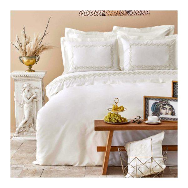 купить Постельное белье Karaca Home-Atlas gold Кремовый фото