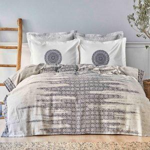 купить Постельное белье Karaca Home-Calipso indigo pike jacquard Белый|Синий фото