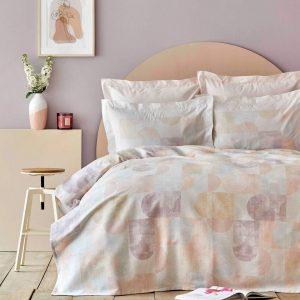 купить Постельное белье Karaca Home-Dream somon пике Розовый|Голубой фото