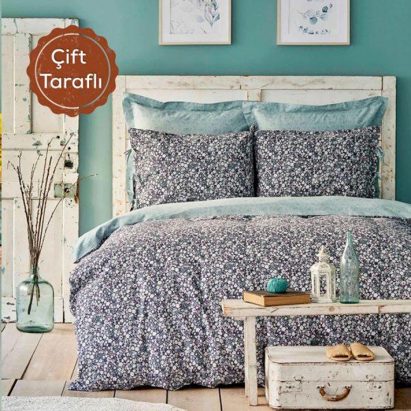 купить Постельное белье Karaca Home-Flori yesil Фиолетовый фото
