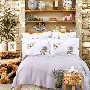 купить Постельное белье Karaca Home-Henri lila pike jacquard Лиловый фото