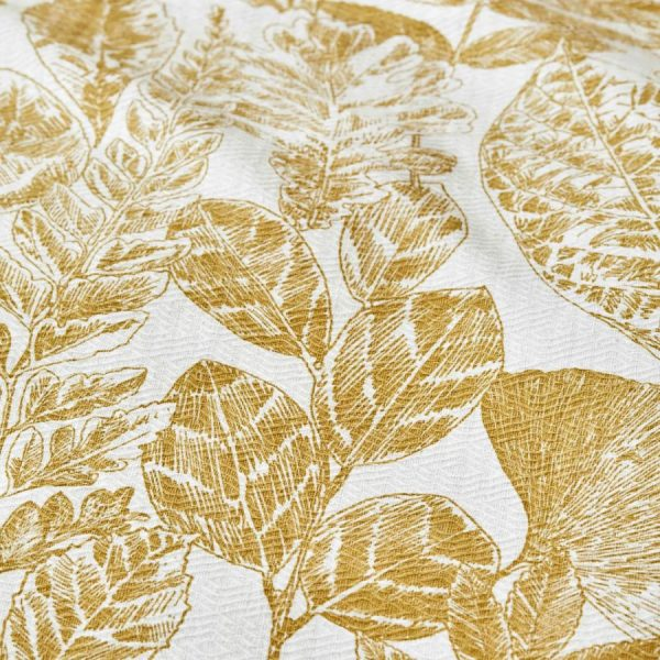 купить Постельное белье Karaca Home-Leaf hardal пике Золотой фото