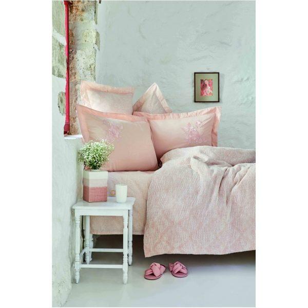 купить Постельное белье Karaca Home-Miracle blush pike jacquard Розовый фото