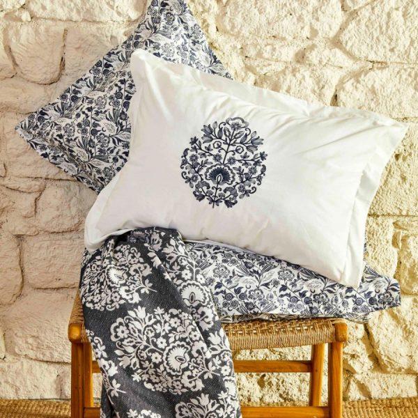 купить Постельное белье Karaca Home-Moni indigo pike jacquard Синий фото