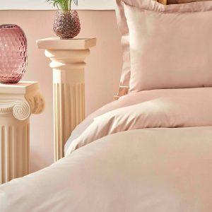 купить Постельное белье Karaca Home-Back To Basic pudra Розовый Бежевый фото