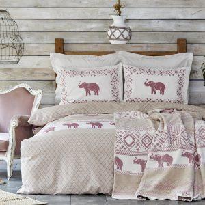 купить Постельное белье Karaca Home-Faustina pembe Розовый фото