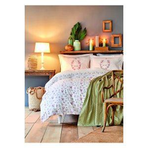 купить Постельное белье Karaca Home-Sonya yesil bag Зеленый Розовый фото