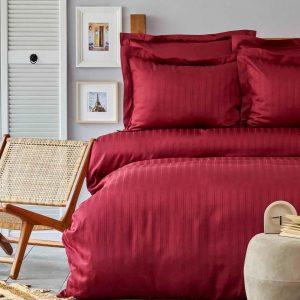 купить Постельное белье Karaca Home сатин-Charm bold bordo Бордовый фото