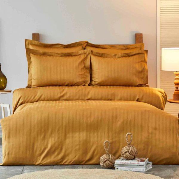 купить Постельное белье Karaca Home сатин-Charm bold hardal Коричневый фото