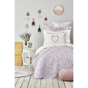 купить Постельное белье с покрывалом Karaca Home-Birdy lila Лиловый фото