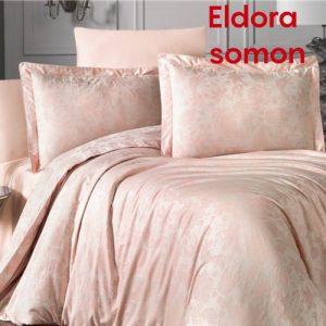 купить Постельное белье Altinbasak жаккард eldora somon Розовый фото