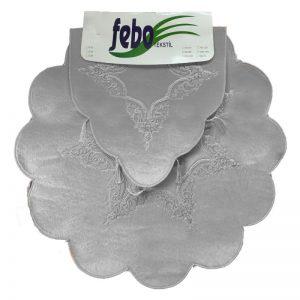 купить Набор ковриков FEBO P01 ANTRASIT Серый фото