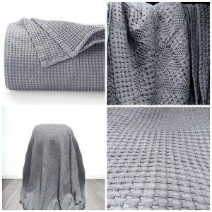 купить Плед вафельный Home Textile bt-705650 Серый фото