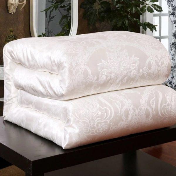 купить Одеяло шелковое двуспальное 12985 Кремовый фото
