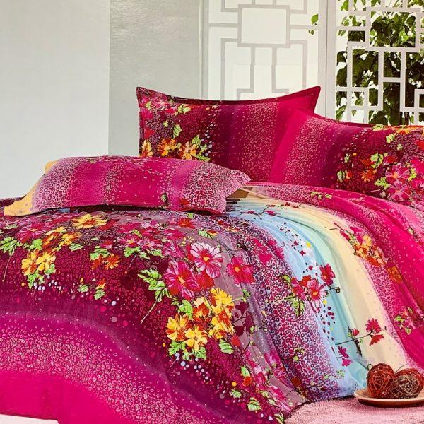 купить Постельное белье микросатин 100344 Красный|Розовый фото