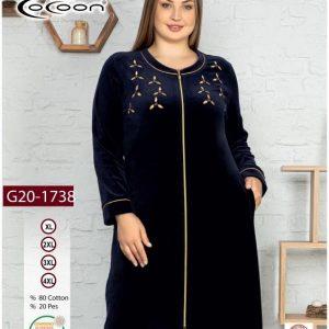 купить Женский халат Cocoon 20-1738 dark navi