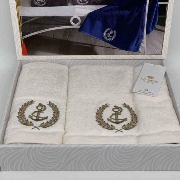 купить Набор полотенец DIAMOND DELOR KREM Кремовый фото