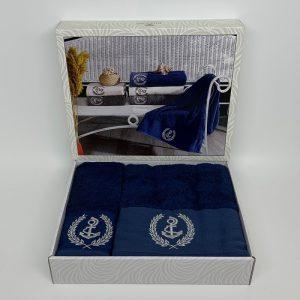купить Набор полотенец DIAMOND DELOR NAVY Синий фото