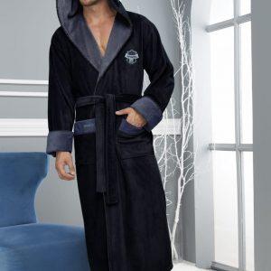 купить Мужской халат Nusa ns 1145 синий