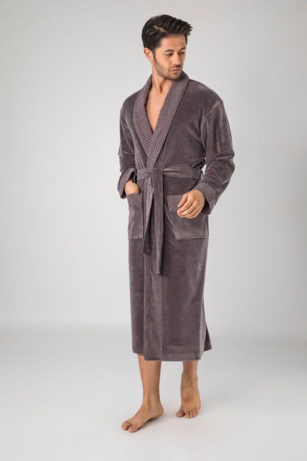 купить Мужской халат Nusa ns 20665 fume
