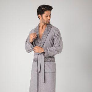 купить Мужской халат Nusa ns 20695 gri