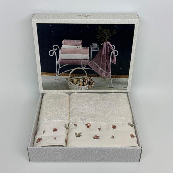 купить Набор полотенец DIAMOND JULIA KREM Кремовый фото