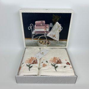 купить Набор полотенец DIAMOND MIMOZA KREM Кремовый фото