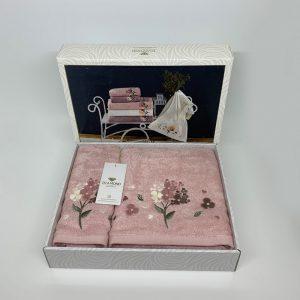 купить Набор полотенец DIAMOND MIMOZA PUDRA Розовый фото