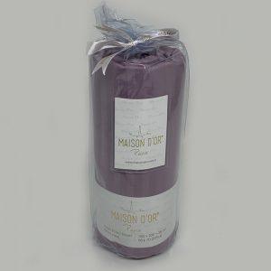 купить Простынь сатин на резинке с 2 наволочками Maison Dor MURDUM Фиолетовый фото