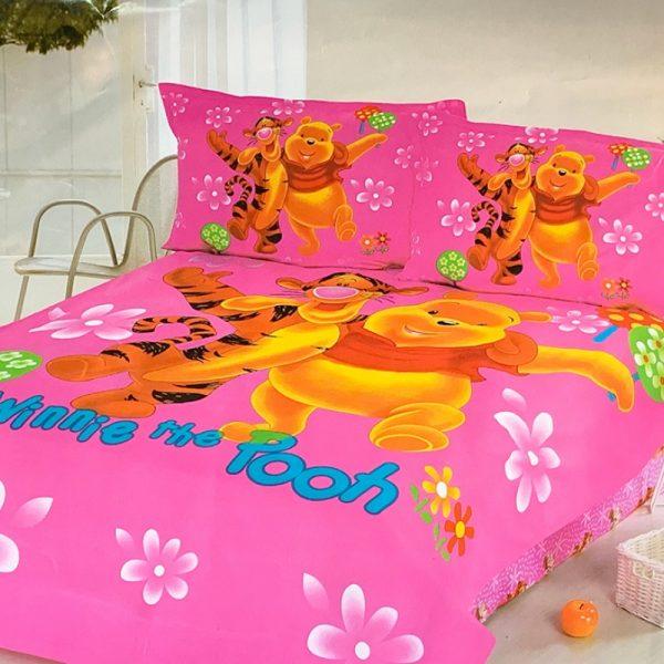 купить Постельное белье Вини Пух Розовый фото