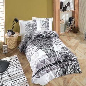 купить Постельное белье Hobby Home Poplin Mandala grey Серый фото