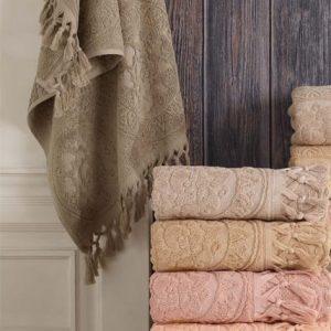купить Набор махровых полотенец Sikel жаккард Hitit 70x140 6 шт