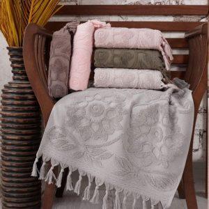 купить Набор махровых полотенец Sikel жаккард Barberyy 70x140 6 шт