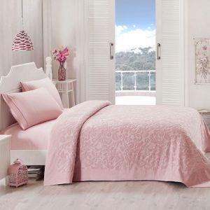 купить Покрывало-простынь махровая TAC Lyon gul 200x220 розовый