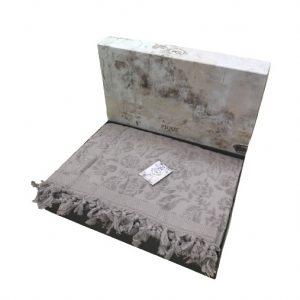 купить Махровая простынь-покрывало Пике Sikel жаккард Lilyum Penye lila 200x220 лиловый