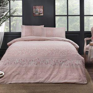 купить Постельное белье TAC ранфорс Leona V02 pembe Розовый фото