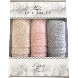 купить Набор кухонных полотенец Gold Soft Life V03 кружево махра 30x50 3 шт