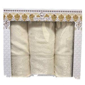 купить Набор махровых полотенец Gold Soft Life Hindistan 50x90 2шт и 70x140 кремовый