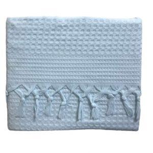 купить Вафельное покрывало-простынь Пике La Rita вафельная 220x240 ментоловый