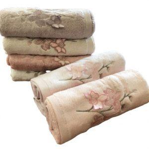 купить Набор махровых полотенец Sikel 3D Bamboo Zambak 70x140 6 шт