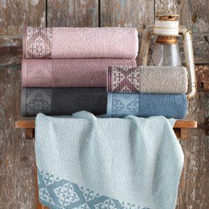 купить Набор махровых полотенец Purry Cotton Defne 50x90 6 шт