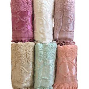 купить Набор махровых полотенец Gulcan жаккард 70x140 6 шт