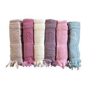 купить Набор махровых полотенец Gulcan Cotton Daisy 50x90 6 шт