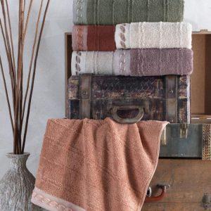 купить Набор махровых полотенец Sikel жаккард Saika 70x140 6 шт